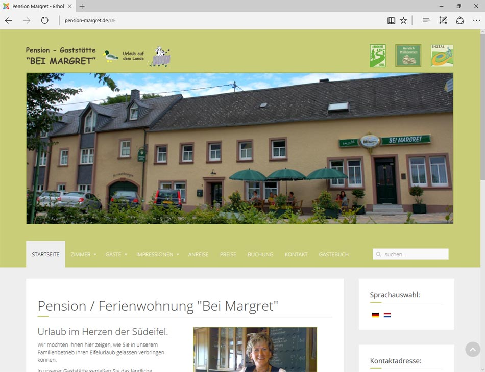 pension margret.de